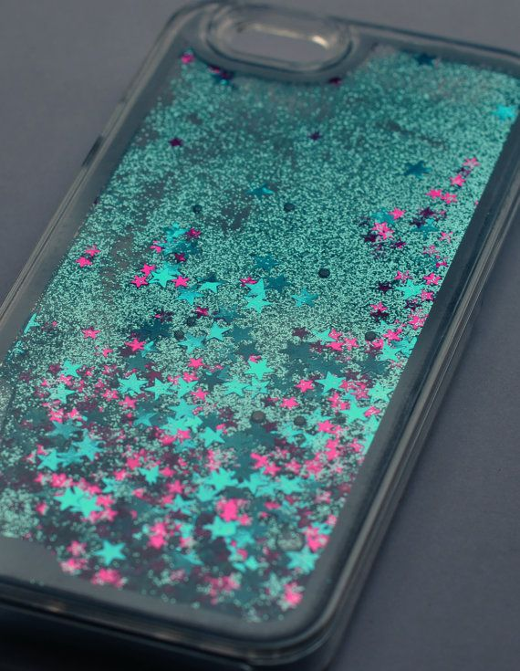 The LIQUID GLITTER Case  BLUE  iPhone 6 by ANTIapparel on Etsy -LOOKS LIKE A MERMAIDS'S TAIL! <3
