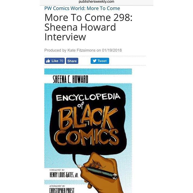 On More to Come Calvin interviews Eisner Award-winning scholar Dr. Sheena Howard at the Black Comic Book Festival in Harlem about her pioneering reference work 'The Encyclopedia of Black Comics; and about 'Superb' a new super hero series co-written by Howard and published by Lion Forge featuring a teenage super hero with Down Syndrome. Interview link in bio