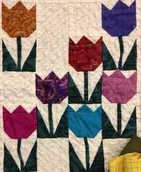 Tulip Quilt Could Be Done With Small Squares And