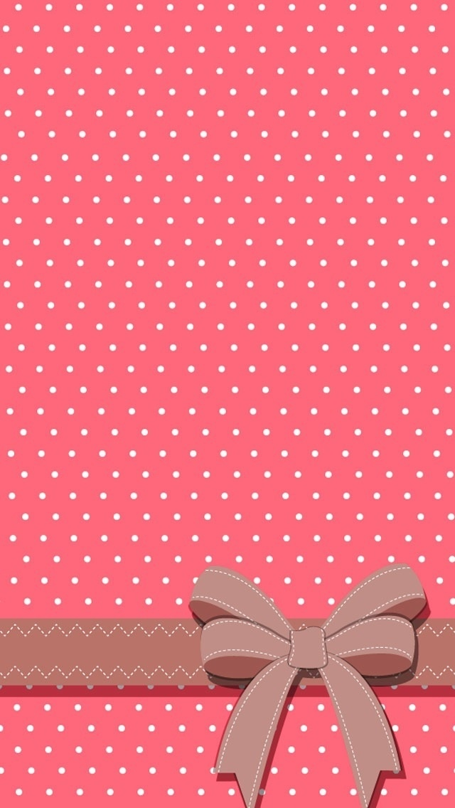 Polka Dot Pink And White Iphone Wallpaper Also Good For Other