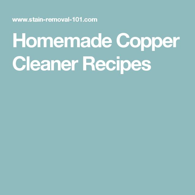 Homemade Copper Cleaner Recipes