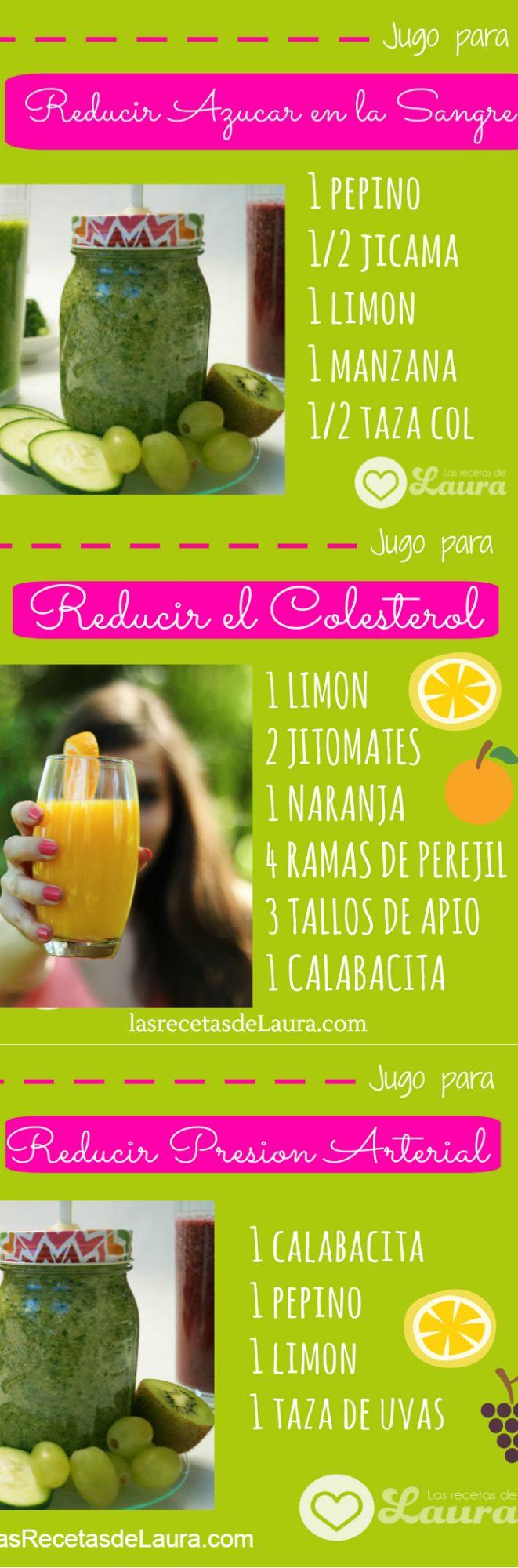 JUGOS Y LICUADOS para bajar de peso, Colon Irritable, Reducir azucar, diabetes, colesterol, detox, depurativos, naturales y deliciosos!