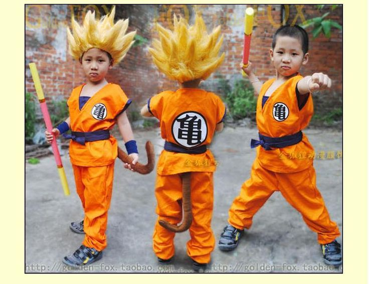==> [Free Shipping] Buy Best Halloween Child Dragon Ball Z GoKu Letter GUI/WU Cosplay Costume Fancy Party clothing for Kid Online with LOWEST Price | 1906332526