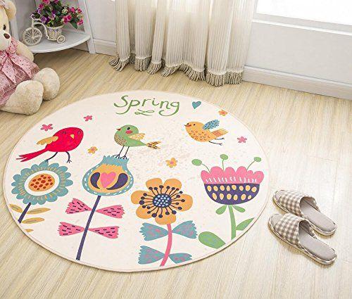 Alfombra de dibujos animados niños alfombra antideslizante alfombra redonda 100 cm toalla , white , 100cm #Alfombra #dibujos #animados #niños #alfombra #antideslizante #redonda #toalla #white