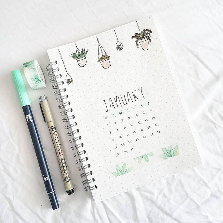 Aww wow I love this minimalist January cover page by @senseistudies #notebooktherapy