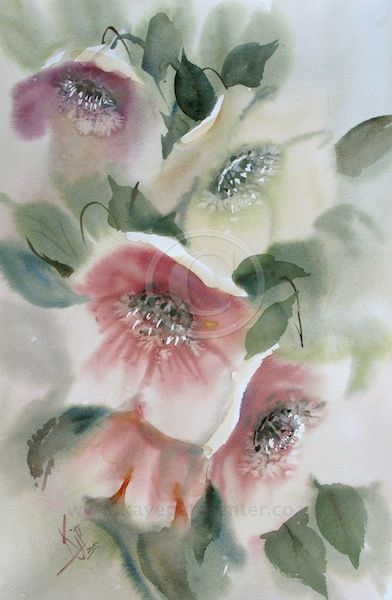 Hellebores --- I must paint this in my art journal as practice, then paint it on canvas. This is so pretty. I think I would change a few things, but honestly this is so sweet!
