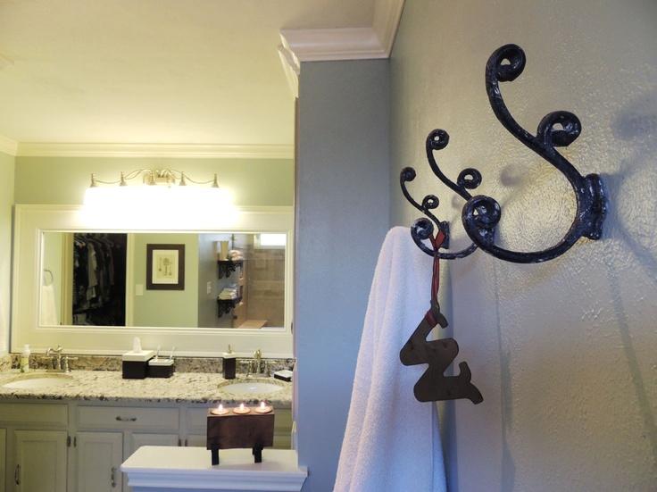 The Bathroom Saga The Reveal Decorative Hooks Bathroom Towels And Towels