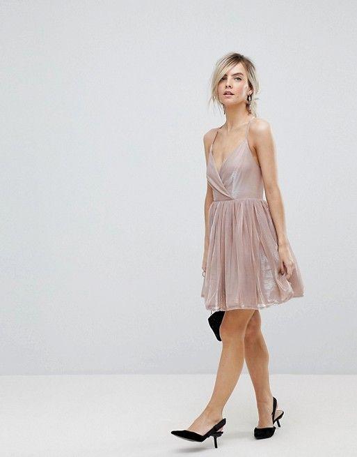 19330f336d59 PETITE Metallic Tulle Mini Dress   STYLE   Dresses, Asos petite ...