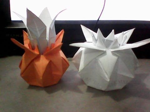 tutorial on how to make an origami vase. I used colored printer paper and converted it into a square. Sorry for the blurry video because i just took it from ...