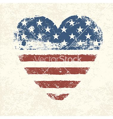 Heart shaped american flag vector on VectorStock®                                                                                                                                                                                 More