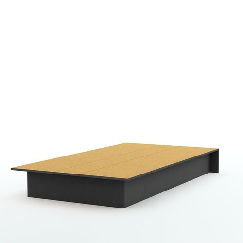 twin platform bed frame in black wood finish - Twin Platform Bed Frame