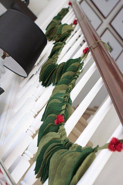 DIY holiday felt leaf garland/via me oh my