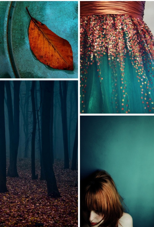 Pepper and Buttons: {Colour Board} Teal + Rust