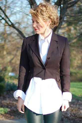 How to make a tuxedo blazer with tails from a regular old thrift store jacket!