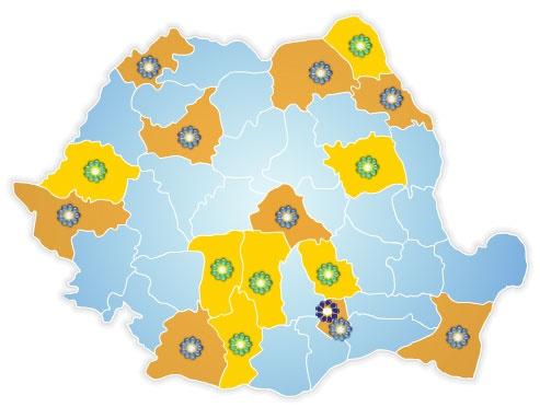 Harta Synevo Romania
