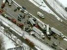 Weather causes accidents in Midwest: Snow and ice cause highway crashes in Indiana and Michigan. IMAGE (Reuters) 2-1-13