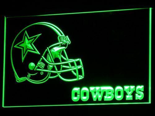 Dallas Cowboys Đội Mũ Bảo Hiểm Neon Dấu Hiệu Dẫn Dấu Hiệu với On/Off Chuyển 7 Colors B317