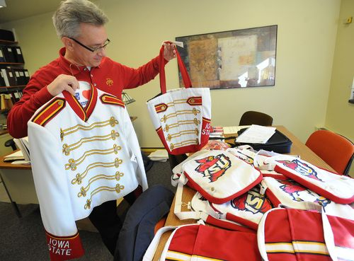 Once stored away in boxes with no sign of daylight, Iowa State University's old marching band uniforms are seeing new life this semester.