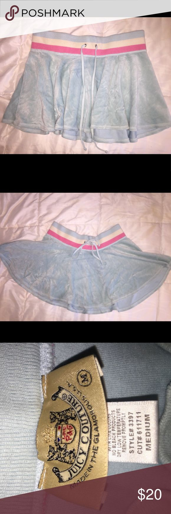 JUICY COUTURE VELOUR SKIRT Because every girl needs a Juicy skirt. Juicy Couture Skirts Mini
