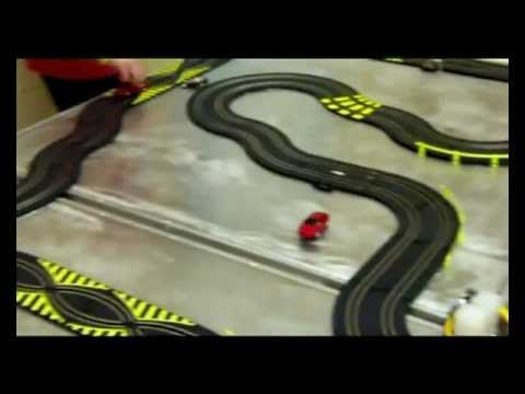 How can a human-powered generator be used to run a slot car racing set? - Pedal Power Generators