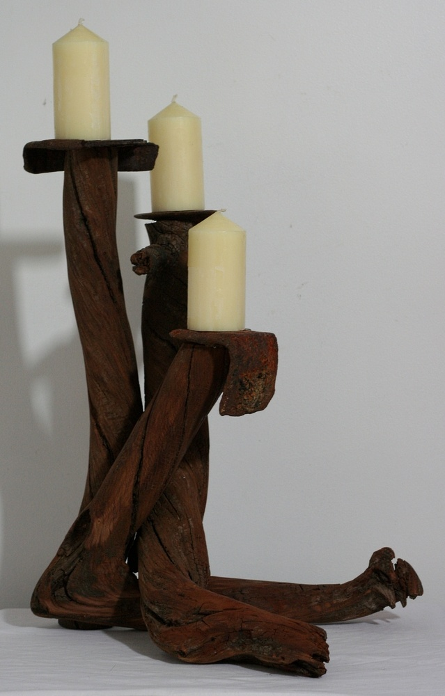 Driftwood candelabra, Drift Wood Candle holder, Drift wood table decoration. £105.00 @JoniMartin