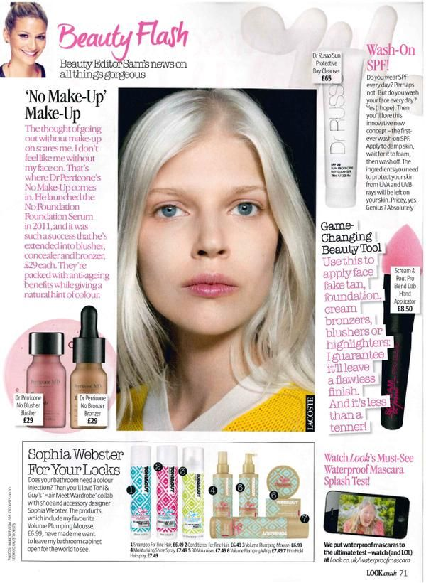 Pro Blend Dab Hand Applicator featured in Look Magazine.