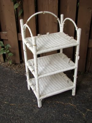 White wicker shelves i would love something like this - White wicker bathroom accessories ...