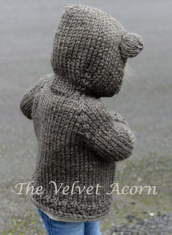 KNITTING PATTERN-The Bladyn Bear Sweater 2 3/4 от Thevelvetacorn