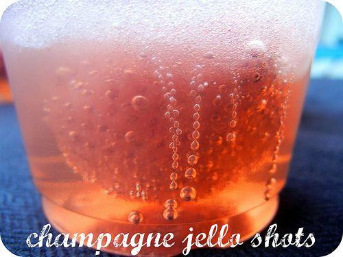 Champagne jello shots!!!