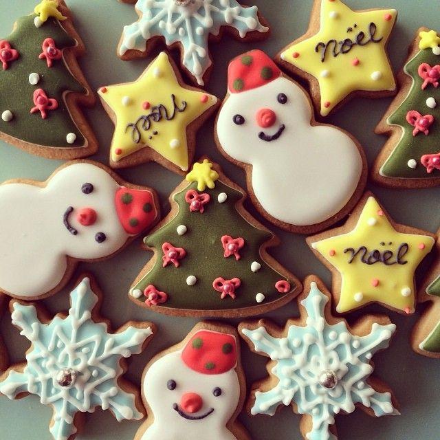 christmas motif cookies