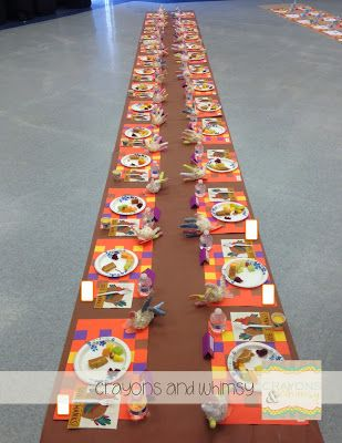 Getting ready for the Kindergarten Thanksgiving Feast!