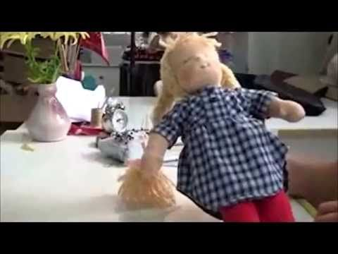 How to make a Waldorf doll - YouTube