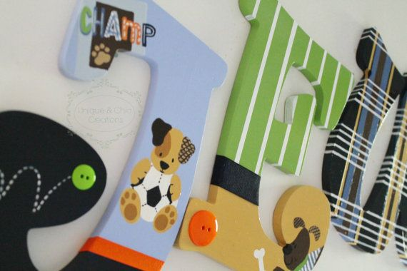 Lamb and Ivy Bow Wow Sports and Dog Themed Hand by KraftinMommy
