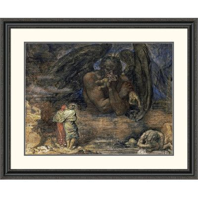 Global Gallery 'Dante and Virgil Encounter Lucifer in Hell' by Henry John Stock Framed Painting Print Size: