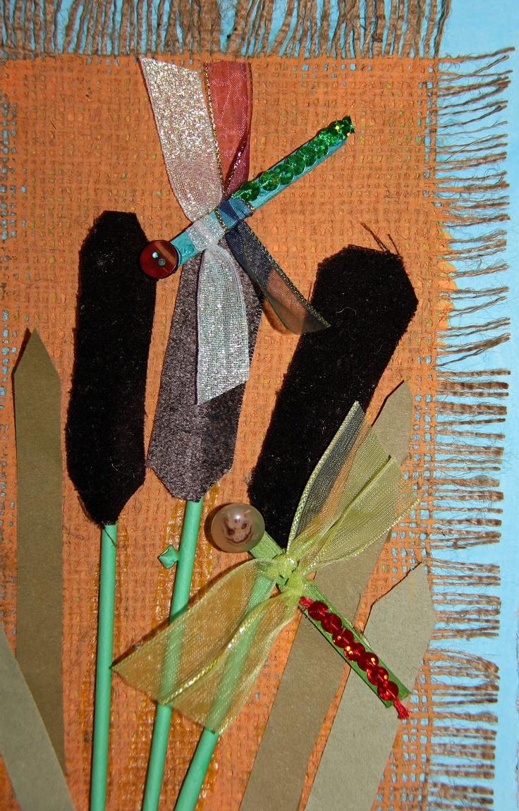 ArtZ KiddoZ blog: cattails and dragonflies collage