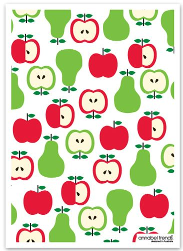 Apples and Pears Linen Tea Towel from Sarah J Home Decor...$16.95