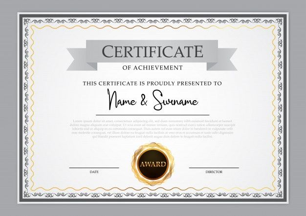 Vintage Certificate Template Design In 2020 Certificate Design Template Certificate Design Certificate Templates