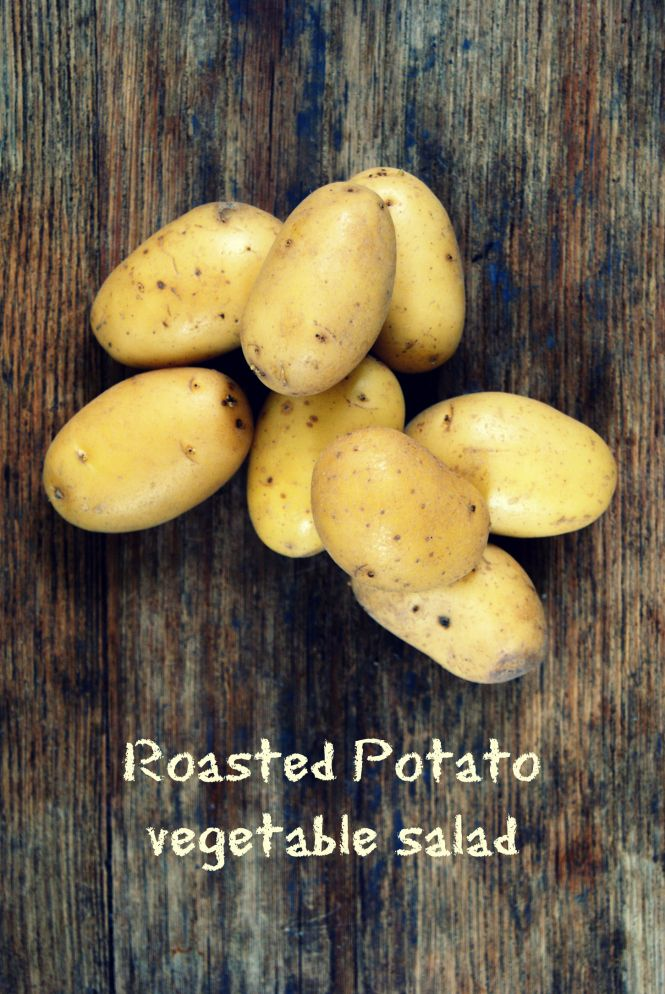 Roasted potato & vegetable salad – The imperfect writings
