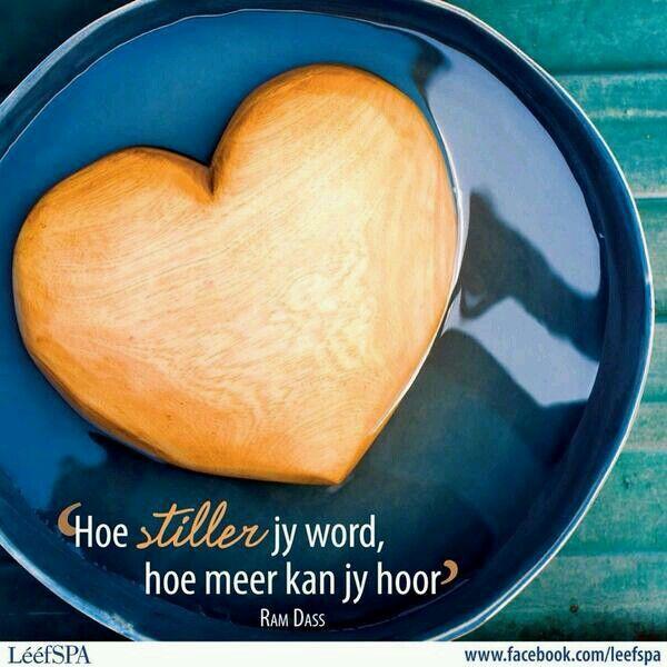 Hoe stiller jy word...hoe meer kan jy hoor... __ⓠ Ram Dass #Afrikaans #listen (Via LééfSPA/FB)