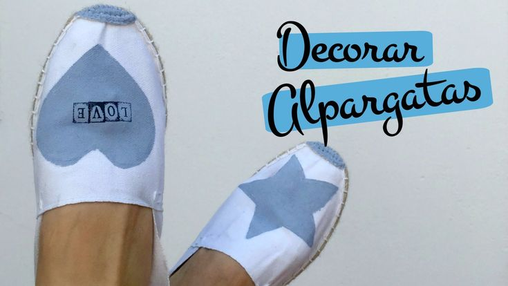 Tutorial DIYpara decorar zapatillas de esparto o alpargatas. Pinafili Films