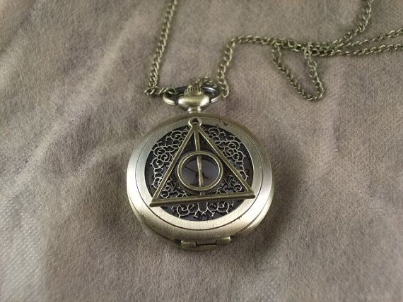 watch harry potter bronze the death hallows necklace by soaluis