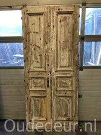 nr. set538 set half geloogde deuren   Dubbele deuren, setjes kastdeuren   Oudedeur - paneeldeuren :