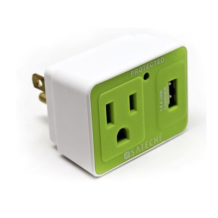 Plug with a USB port #Technology: Compact Usb, Usb Charging, Plugs Usb, Charging 9 99, Usb Surg, Stockings Stuffers, Plugs In, Usb Port, Surg Protector