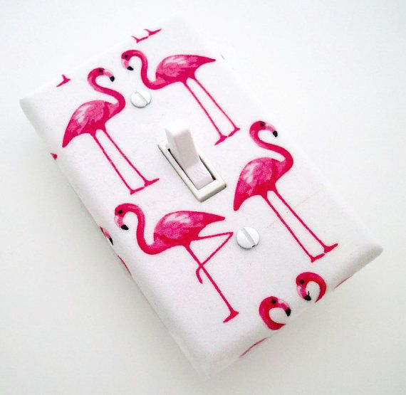 Flamingos Light Switch Cover - Pink Flamingos Bedroom Decor - Flamingo Switch…