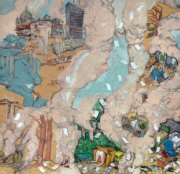 Vanessa Baird To Everything There is a Season, 2014. © Vanessa Baird / BONO. KORO – Kunst i offentlige rom. <BR>Fotomontasje KORO / Ole John Aandal