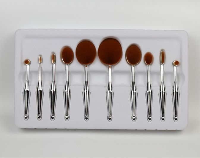 New design 10 piece makeup brush set, any interested contact us: WhatsApp:86-13424200883 or wechat:alicesdsd