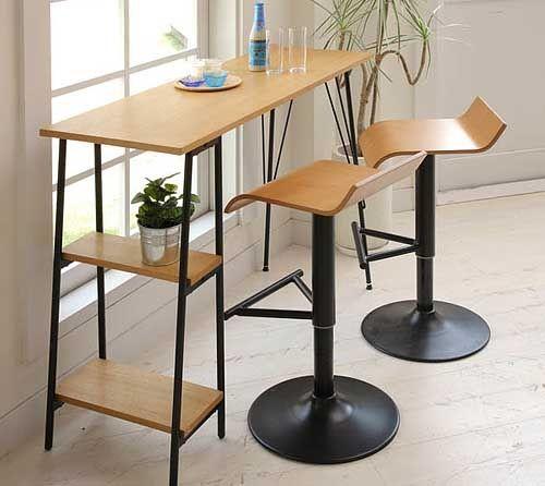 стильный высокий стол для кухни