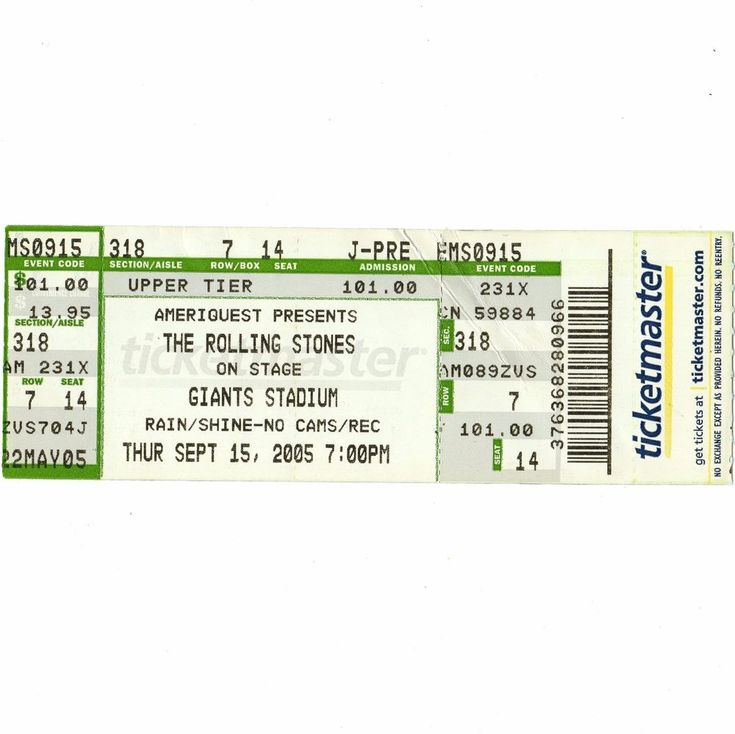 ROLLING STONES Concert Ticket Stub E RUTHERFORD NJ 9/15/05 GIANTS A BIGGER BANG  | eBay