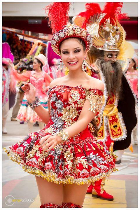 China Morena de la Danza de la Morenada, patrimonio boliviano.
