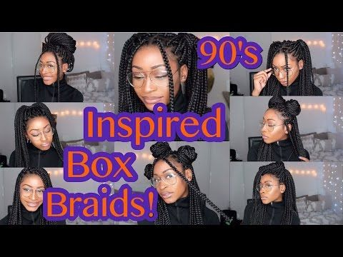 12 Ways To Style Box Braids | FACEOVERMATTER - YouTube